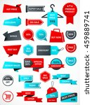 vector stickers  price tag ... | Shutterstock .eps vector #459889741