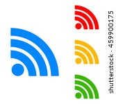 rss sign icon. rss feed symbol. ... | Shutterstock .eps vector #459900175