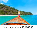 long tail boat against blue sky ... | Shutterstock . vector #459914935