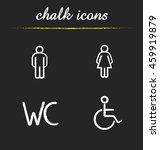 wc toilet door signs. chalk... | Shutterstock .eps vector #459919879