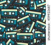 audio cassette pattern | Shutterstock .eps vector #459922687
