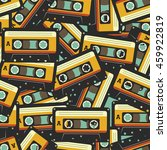 audio cassette seamless pattern | Shutterstock .eps vector #459922819