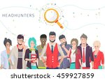 concept of searching... | Shutterstock .eps vector #459927859