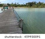 wooded bridge in the port... | Shutterstock . vector #459930091