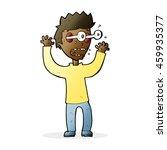 cartoon terrified man | Shutterstock . vector #459935377