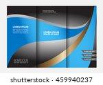 vector modern tri fold brochure ... | Shutterstock .eps vector #459940237