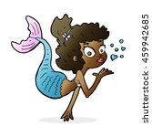 cartoon pretty mermaid | Shutterstock . vector #459942685