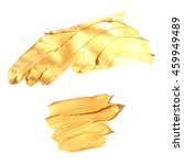 set gold paint | Shutterstock . vector #459949489