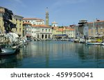 piran  slovenia   july 04  tiny ... | Shutterstock . vector #459950041