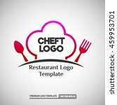 cheft logo template.  can use... | Shutterstock .eps vector #459953701