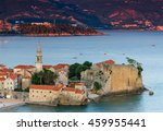 landscape of old town budva at... | Shutterstock . vector #459955441