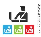 custom officer icon.... | Shutterstock .eps vector #459956335