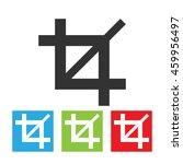 crop icon. simple logo of crop... | Shutterstock .eps vector #459956497