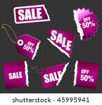 set of shopping signs and... | Shutterstock .eps vector #45995941