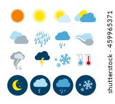 weather universal icons set | Shutterstock .eps vector #459965371
