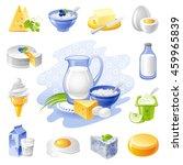 vector illustration of dairy... | Shutterstock .eps vector #459965839