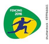 fencing icon  rio icon  vector...   Shutterstock .eps vector #459966661