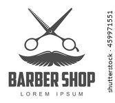 vintage barber shop logo  label ...   Shutterstock .eps vector #459971551