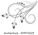 floral decoration of elements ... | Shutterstock .eps vector #459973429