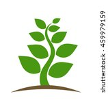 green plant icon. vector
