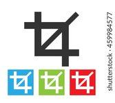 crop icon. simple logo of crop... | Shutterstock . vector #459984577