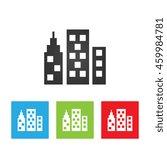 city icon. simple logo of city...