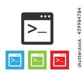 coding terminal icon. simple...