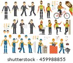 set of characters in different... | Shutterstock . vector #459988855