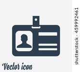 identification card icon. flat... | Shutterstock .eps vector #459992461