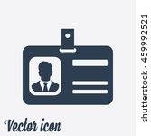 identification card icon. flat... | Shutterstock .eps vector #459992521