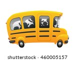 back to school on a yellow...   Shutterstock .eps vector #460005157