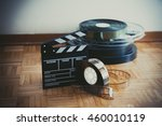 35 mm cinema movie clapper... | Shutterstock . vector #460010119