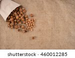 natural hazelnuts on the...   Shutterstock . vector #460012285