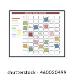 white task board hanging in a... | Shutterstock .eps vector #460020499
