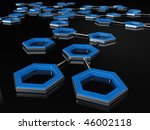 Network and communication - 3D Abstract - stock photo