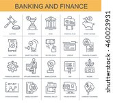 vector icons. banking and... | Shutterstock .eps vector #460023931