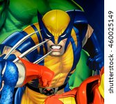 Small photo of LONDON, ENGLAND - JULY 22, 2016: Wolverine poster at thMadame Tussauds wax museum. It is a major tourist attraction in London