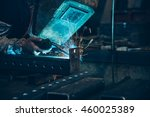 employee welding steel | Shutterstock . vector #460025389