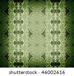 green arabesque background - stock photo