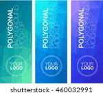 vertical polygonal banners   Shutterstock .eps vector #460032991