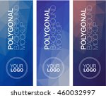 vertical polygonal banners   Shutterstock .eps vector #460032997
