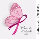 breast cancer awareness month... | Shutterstock .eps vector #460038895