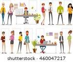 cartoon business people working ... | Shutterstock .eps vector #460047217