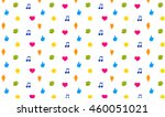 pattern of wellness icons of...   Shutterstock .eps vector #460051021