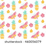 Tropical Pattern With Pineappl...