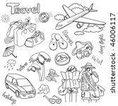 travel doodles. vector... | Shutterstock .eps vector #46006117
