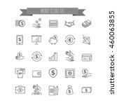money icons. ui money elements | Shutterstock .eps vector #460063855
