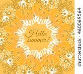 hello summer typographic poster | Shutterstock .eps vector #460069564