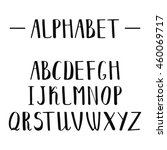 english alphabet drawn by hand... | Shutterstock . vector #460069717