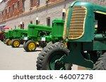 Lineup Of Historic Tractors